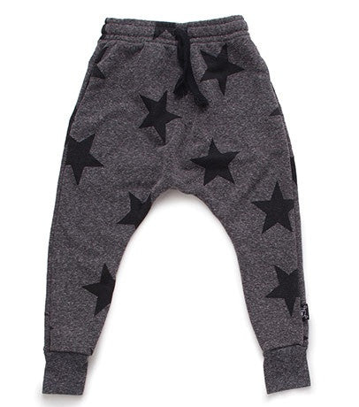 Star Baggy Sweatpants in Charcoal