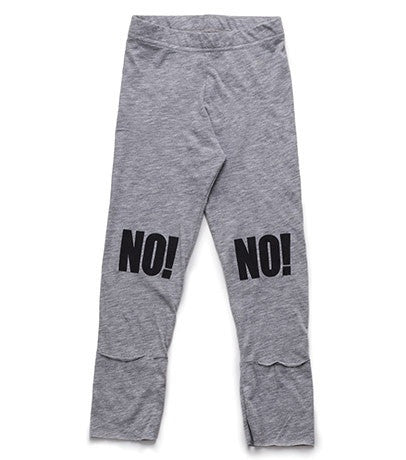 No! Leggings in Heather Grey