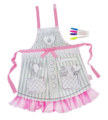 Color In Apron with Tulle Detail