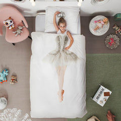 Ballerina Duvet Cover & Pillow Case Bedding Set in TWIN or FULL Size