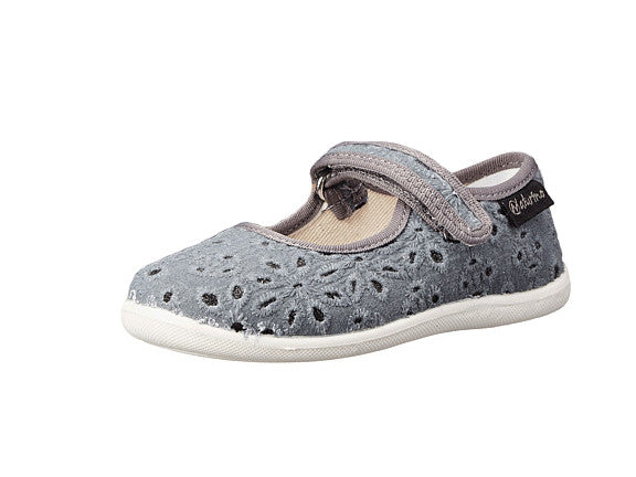 Grey Eyelet Mary Jane