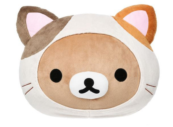 Rilakkuma Cat Head Pillow