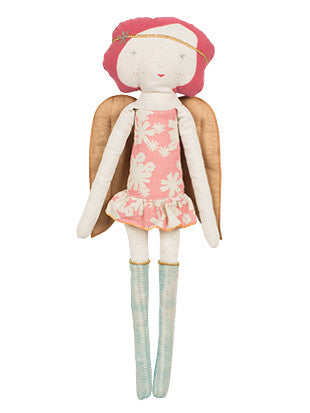 Large Angel Girl in Rose - 19 inches