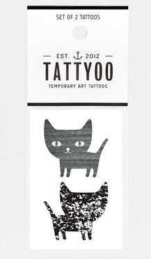 Cats by Audrey Jeanne Temporary Tattoo Set