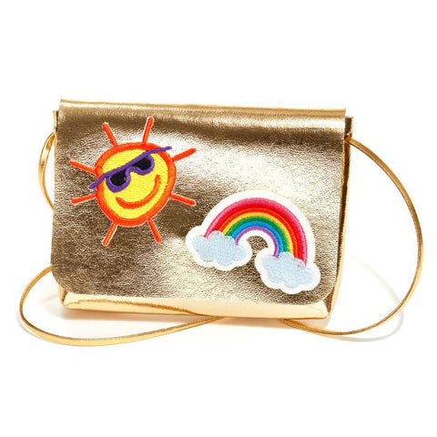 Gold Bag with Rainbow and Sun Patch Detail