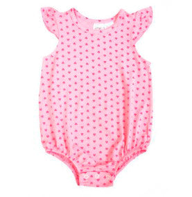 Pink Heart Print Baby Bubble