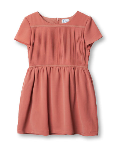 Waffle Celia Dress in Blush