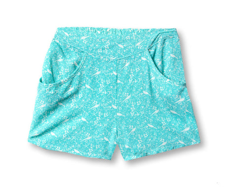 Chou Bird Print Short in Lagoon
