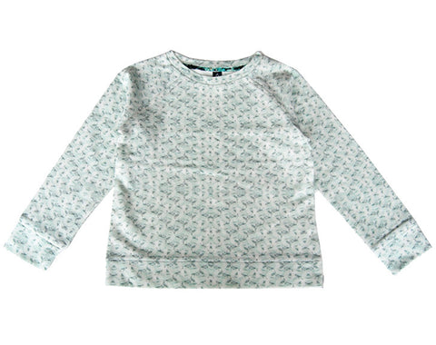 Sweatshirt in Mint Print