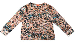 Sweatshirt in Field Peach Print