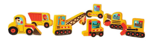 Construction Worker Animals Chunky Puzzle