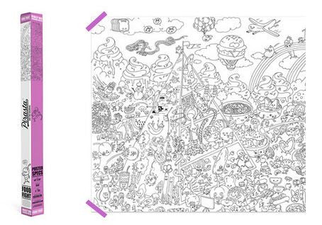 Food Fight! - Really Big Coloring Poster
