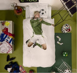 Soccer Star Duvet Cover & Pillow Case Bedding Set