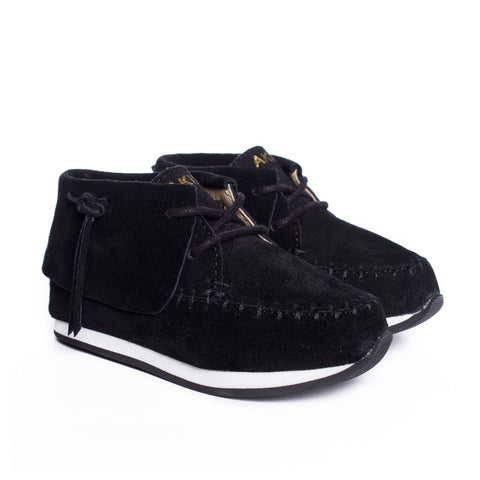Stone Moccasin Sneaker in Black