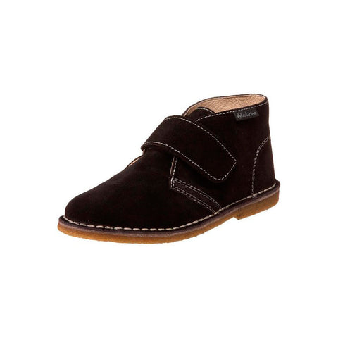 Boys Dark Brown Suede Chukka Boot