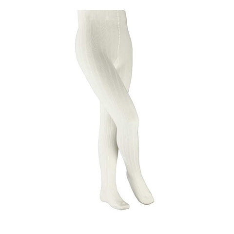 Classic Girls Ribbed Tights in Off White