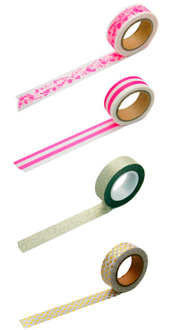 Hot Pink & Gold Washi Tape 4 Pack