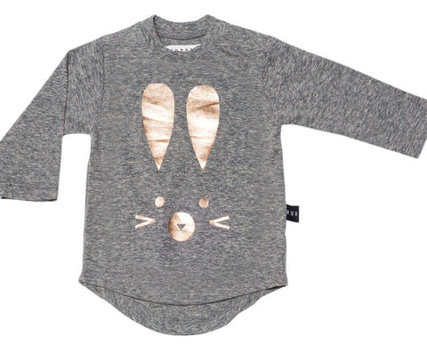 Bunny Long Sleeve Tee in Grey