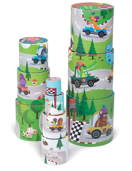 Racing Themed Stacking Tower Set