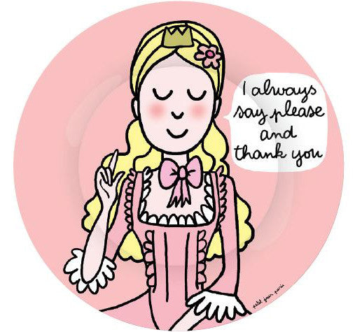 Princess Manners Plate - I always say please and thank you