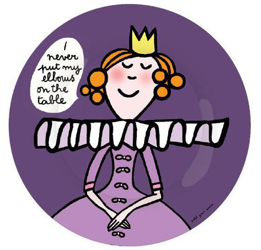 Princess Manners Plate - I never put my elbows on the table