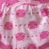 Pink Kitty 3-Pack Brief Set In Assorted Prints