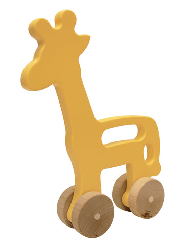 Giraffe Wooden Push Toy