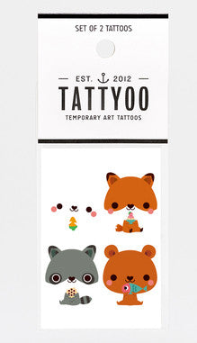 Forest Friends Temporary Tattoo Set
