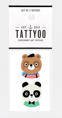 Marcel & Paul Temporary Tattoo Set