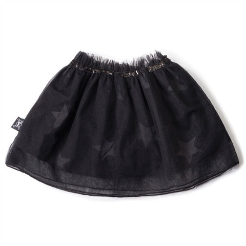 Tulle Star Skirt in Black