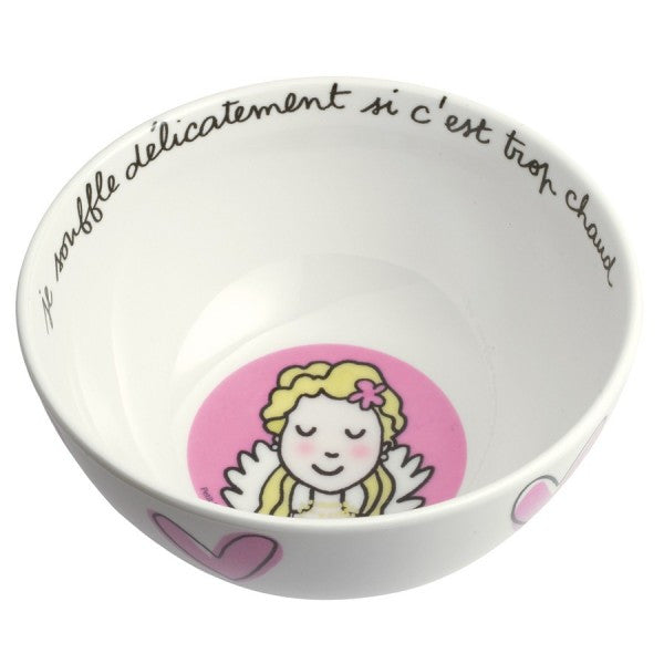 Blonde Princess/Heart Bowl