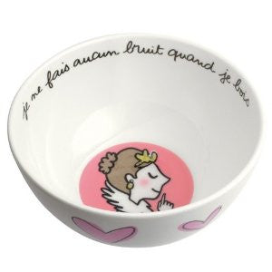 Brunette Princess/Heart Bowl