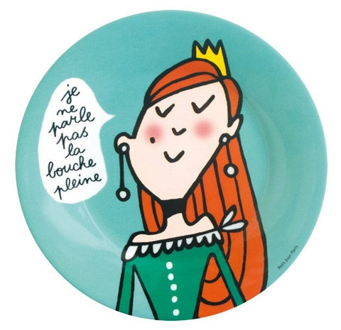 Princess Manners Plate - I don't speak with my mouth full