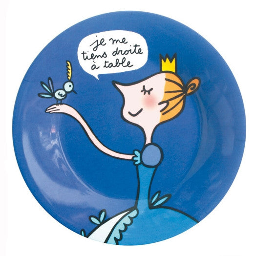 Princess Manners Plate - I sit up straight at the table