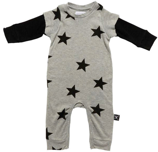 Stars Playsuit in Heather Grey