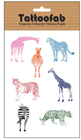 Animals Temporary Tattoo Set