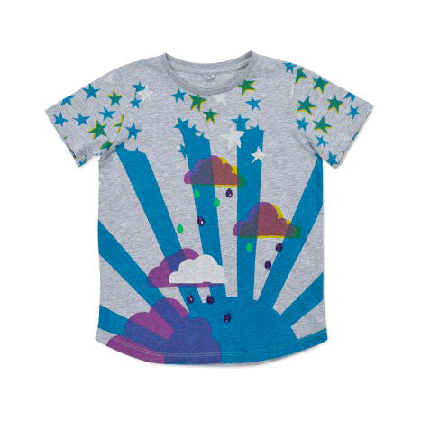 Arlo Girls Cloud Tee Shirt with Jewels