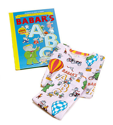 Girls Babar Book and Pajamas Set