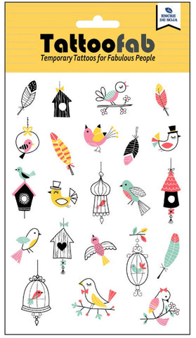 Birdies Temporary Tattoo Set