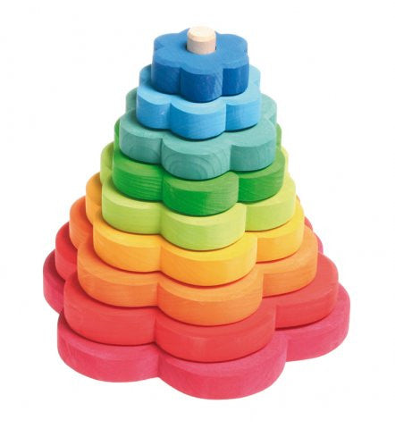 Rainbow Flowers Stacking Tower