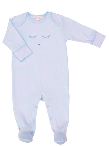 Sleeping Cutie Footie in Blue