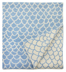 Baby Blanket in Blue Scales Design