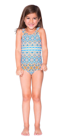 Boho Medallion Print One Piece Swimsuit