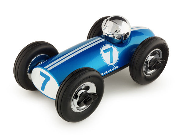 Midi Race Car Bonnie in Blue/Chrome
