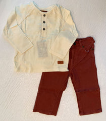 Boys Henley Top & Five Pocket Pant Set