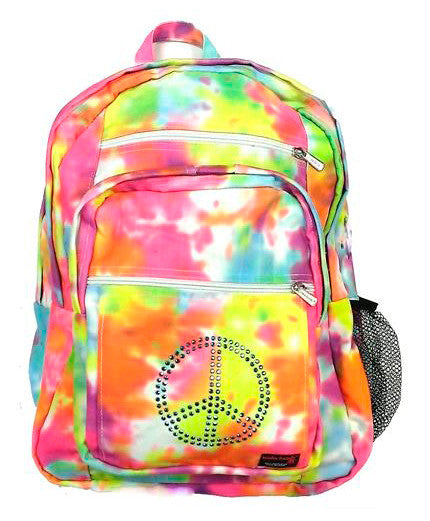 Pastel Tie Dye Backpack with Embellishment - CHOOSE EMBELLISHMENT OPTION