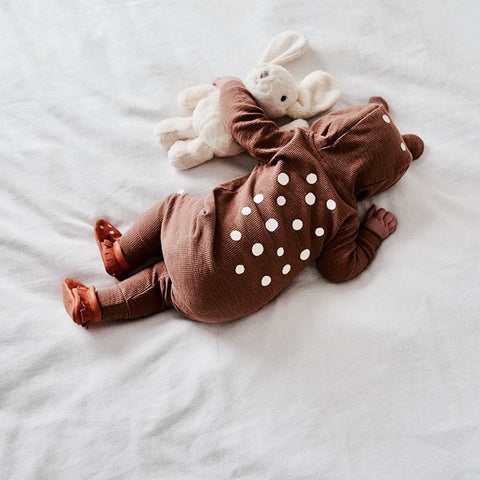 Bambi Hooded Romper in Brown