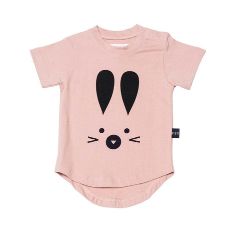 Bunny Drop Back Tee in Pink