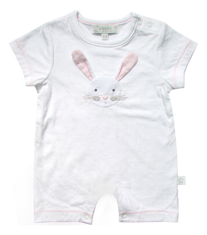 Baby Bunny Applique Short Sleeve Romper