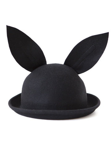 Bunny Hat in Black